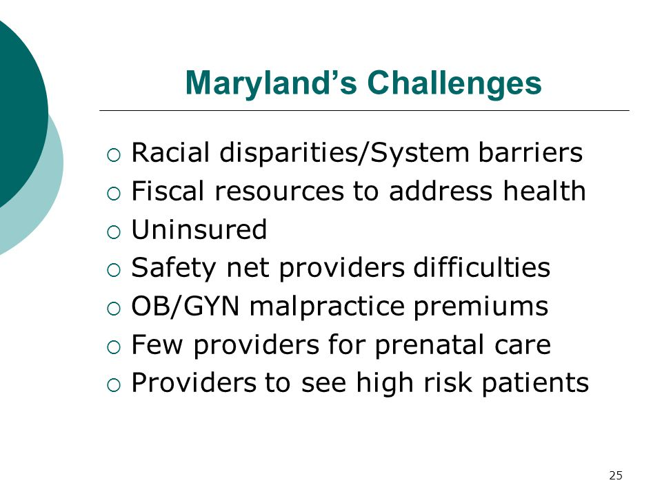 Maryland's Challenges