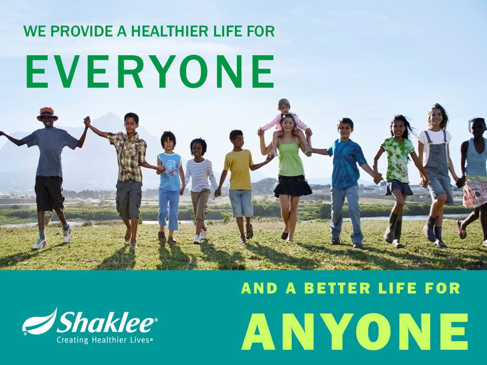 WE PROVIDE A HEALTHIER LIFE FOR EVERYONE