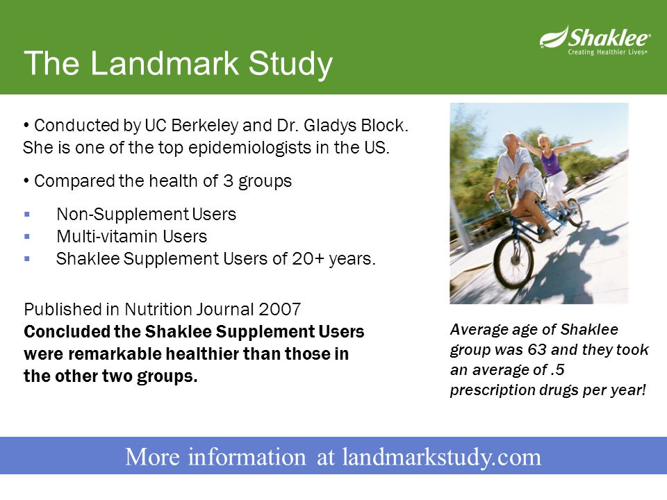 More information at landmarkstudy.com