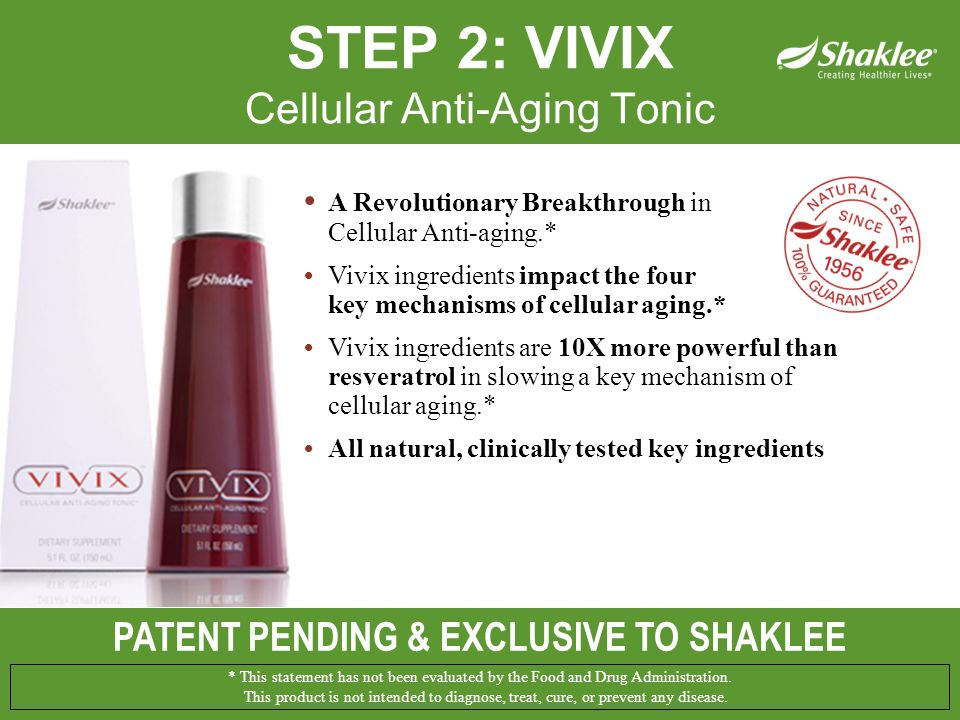 PATENT PENDING & EXCLUSIVE TO SHAKLEE