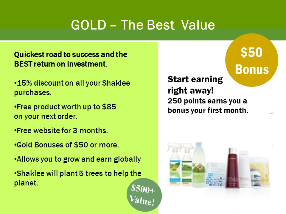 GOLD – The Best Value $50 Bonus