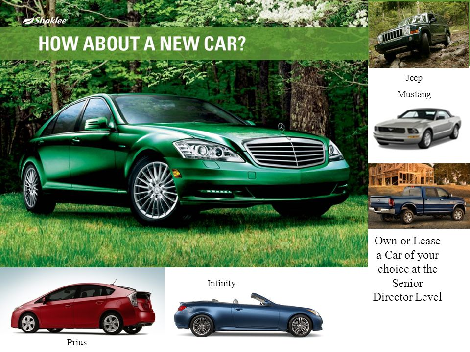 Own or Lease a Car of your choice at the Senior Director Level