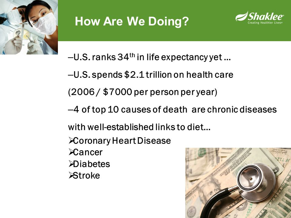 How Are We Doing U.S. ranks 34th in life expectancy yet …