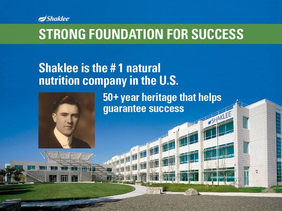 Slide 29 With a heritage that dates back over 50 years, Shaklee has a strong foundation for success.