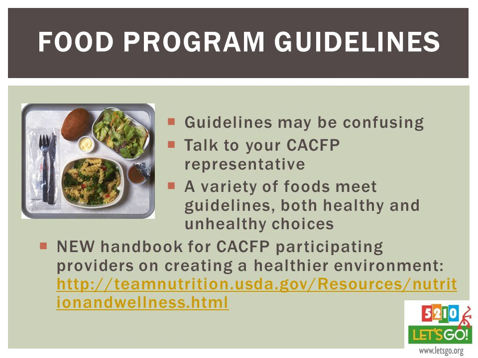 Food Program guidelines