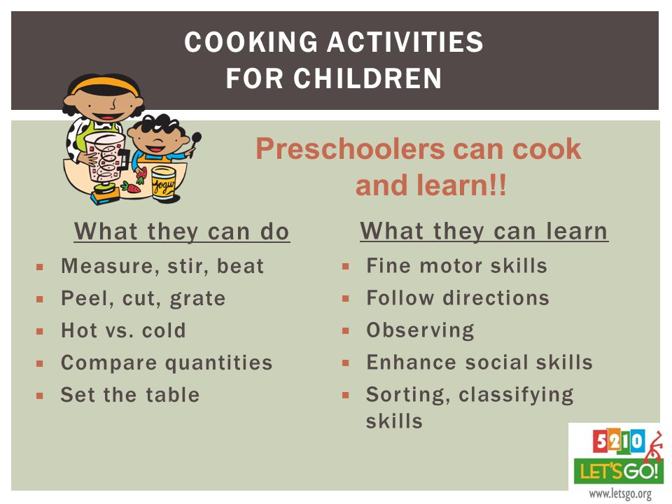 Cooking activities for children