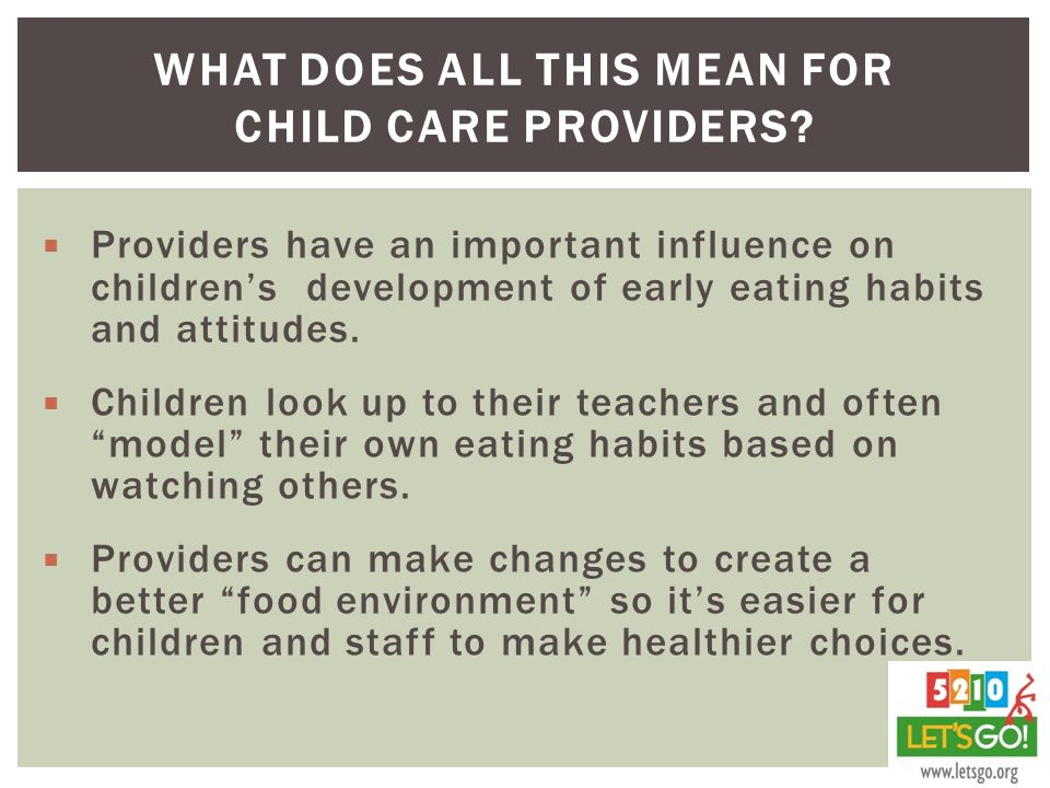 What does all this mean for Child Care Providers