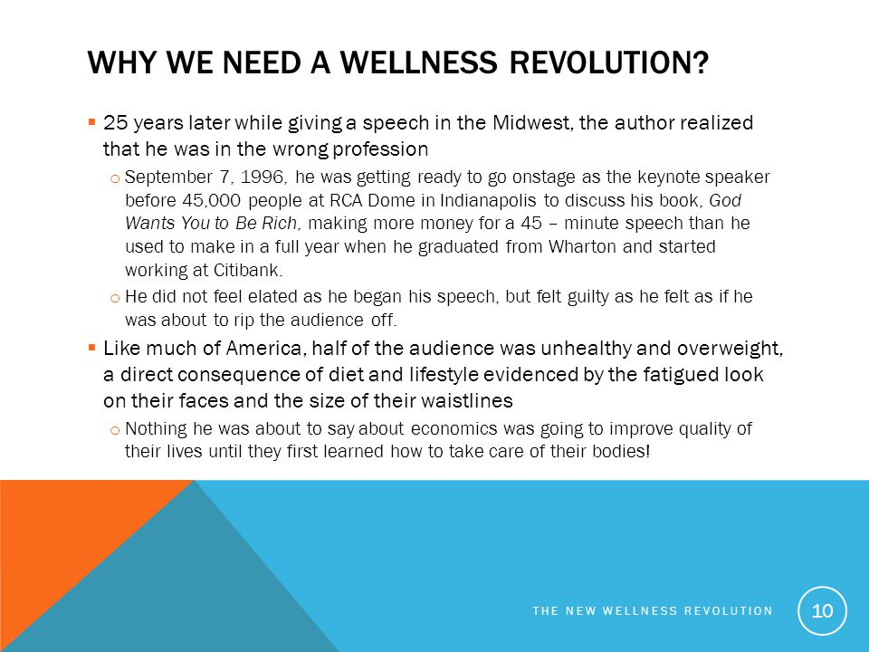Why we need a wellness revolution