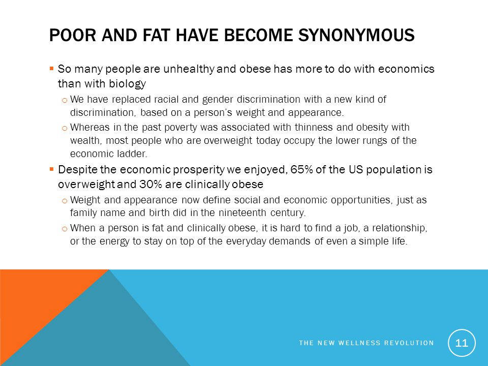 Poor and fat have become synonymous
