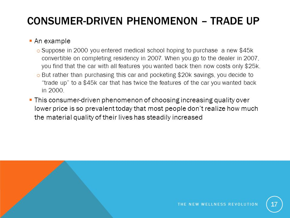 Consumer-driven phenomenon – Trade up