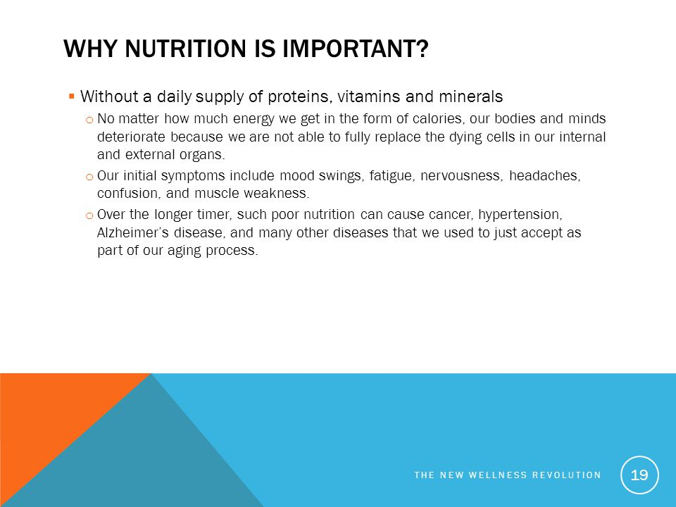Why nutrition is important