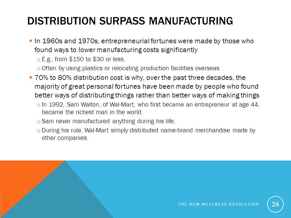 Distribution surpass manufacturing