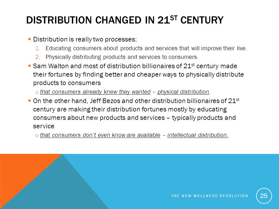 Distribution changed in 21st century