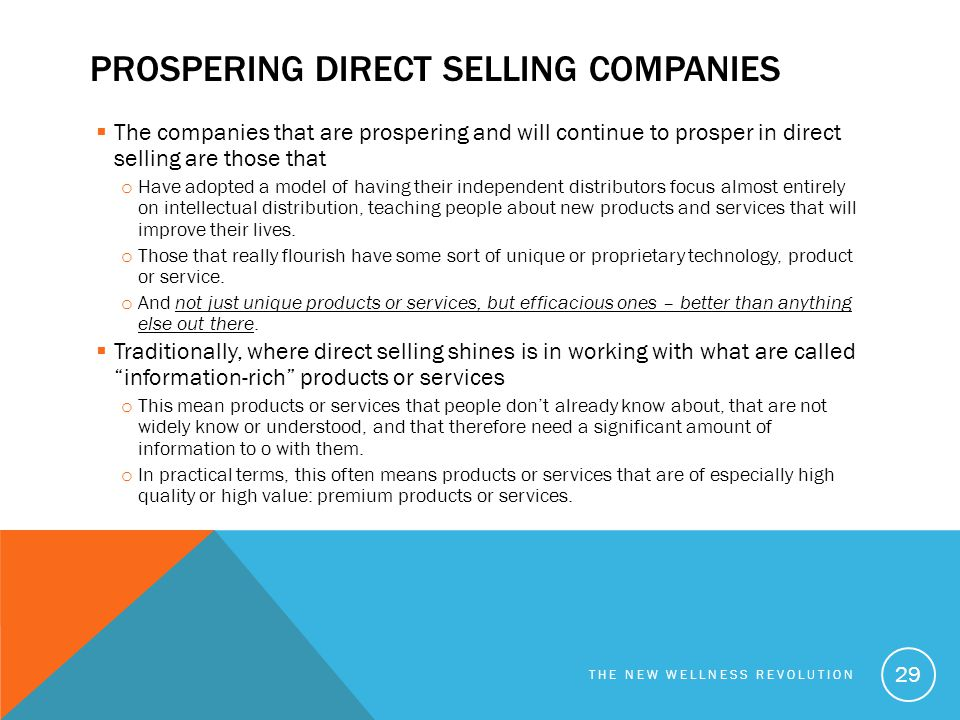 Prospering Direct selling companies