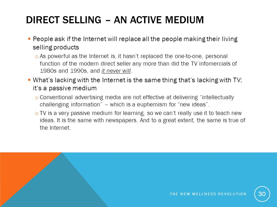 Direct selling – an active medium