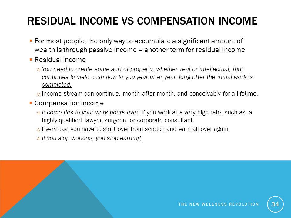 residual income vs Compensation income