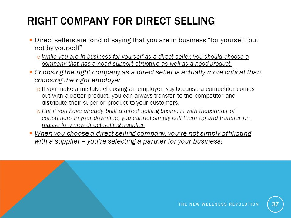 right company for Direct selling