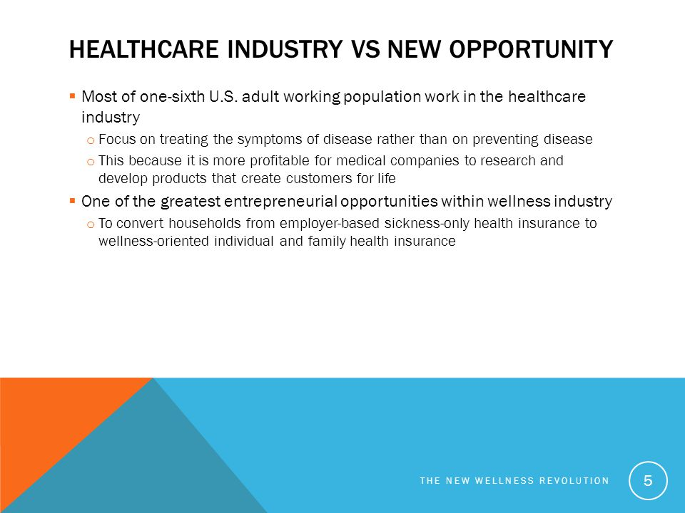 Healthcare industry vs New Opportunity