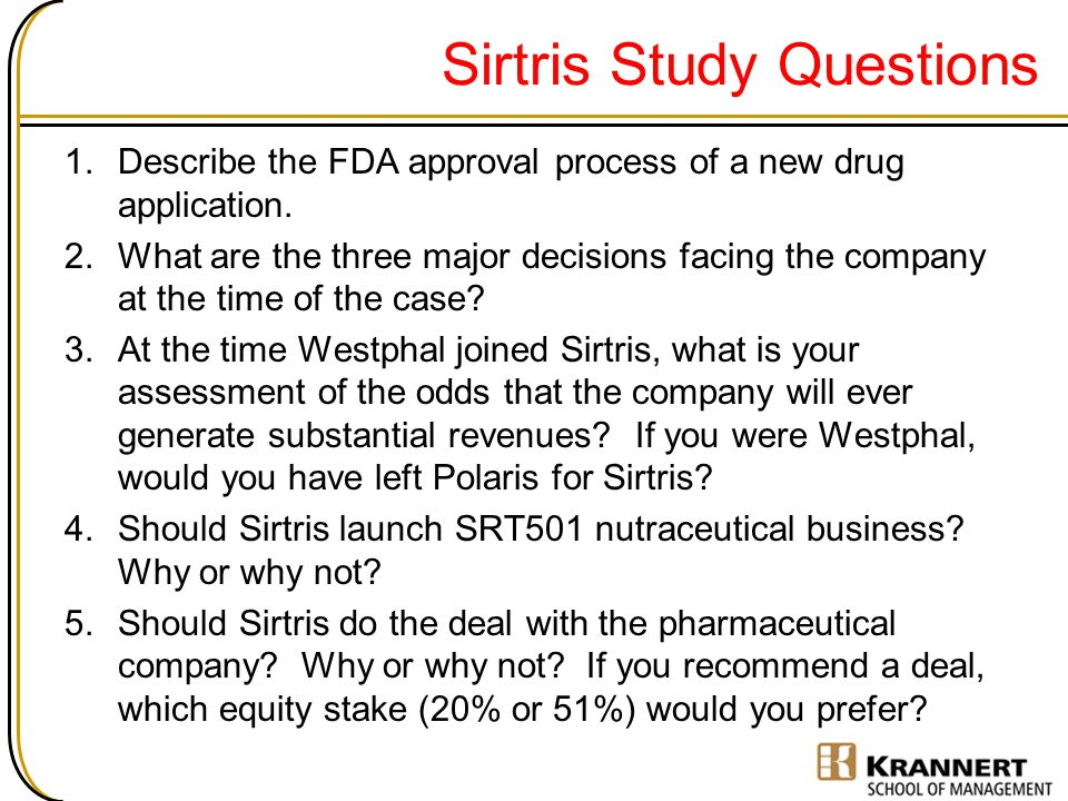 Sirtris Study Questions