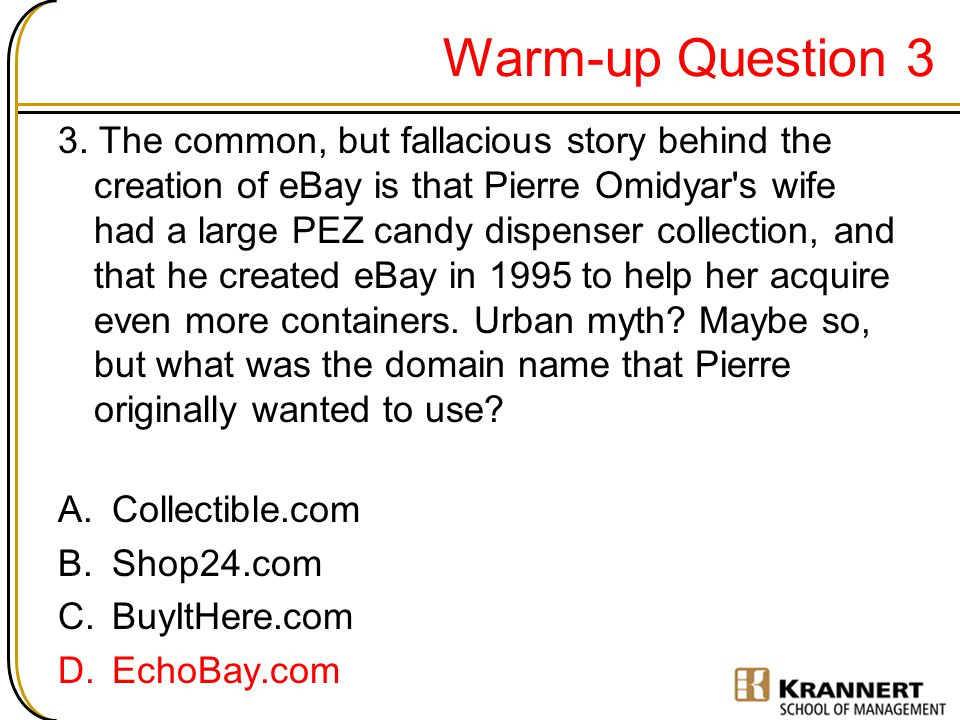 Warm-up Question 3