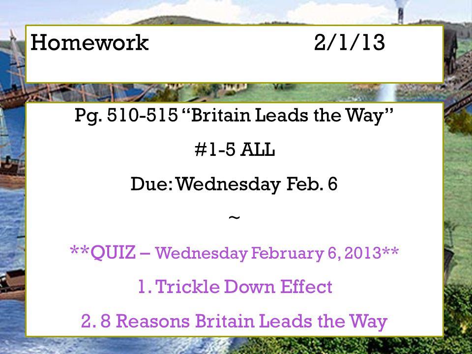 Homework 2/1/13