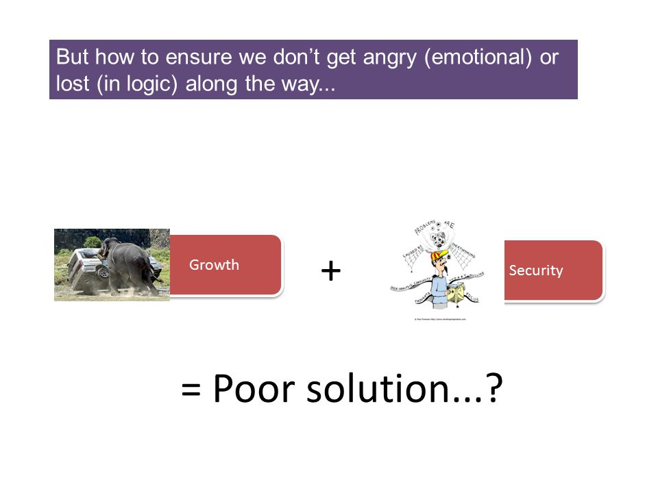 But how to ensure we don't get angry (emotional) or lost (in logic) along the way...