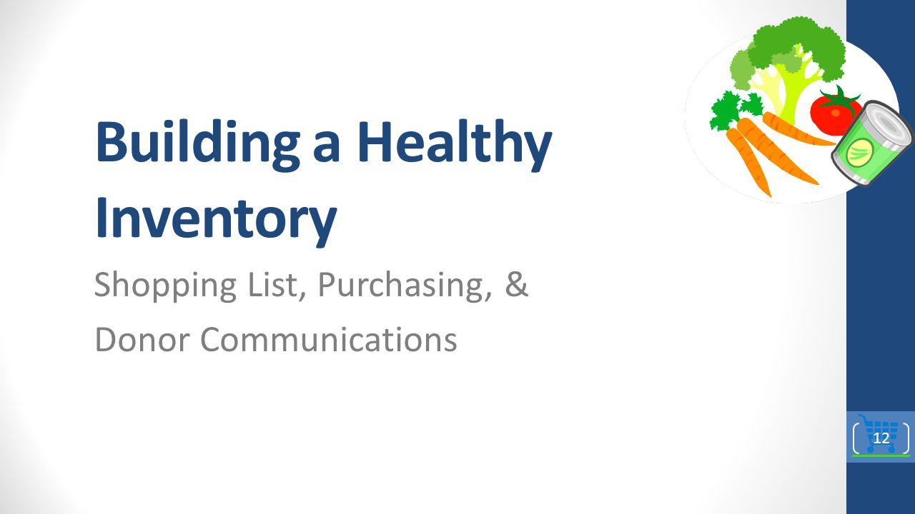 Building a Healthy Inventory