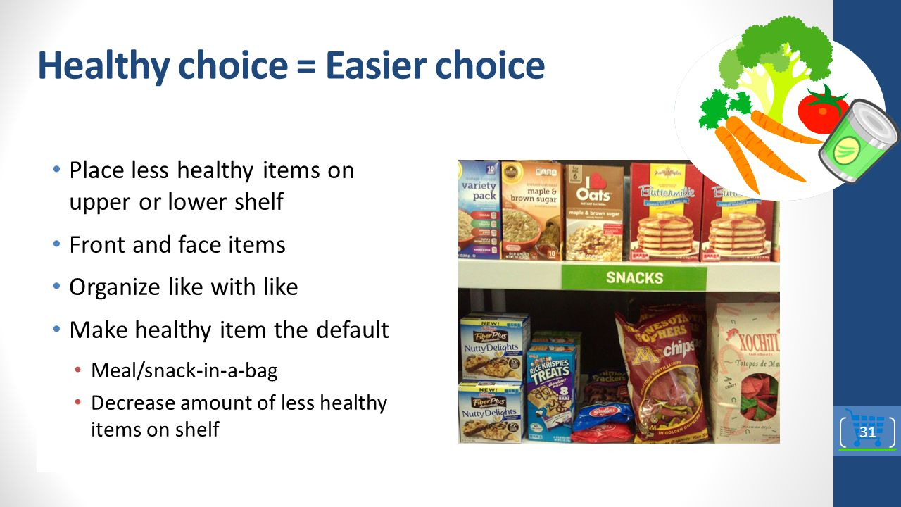 Healthy choice = Easier choice