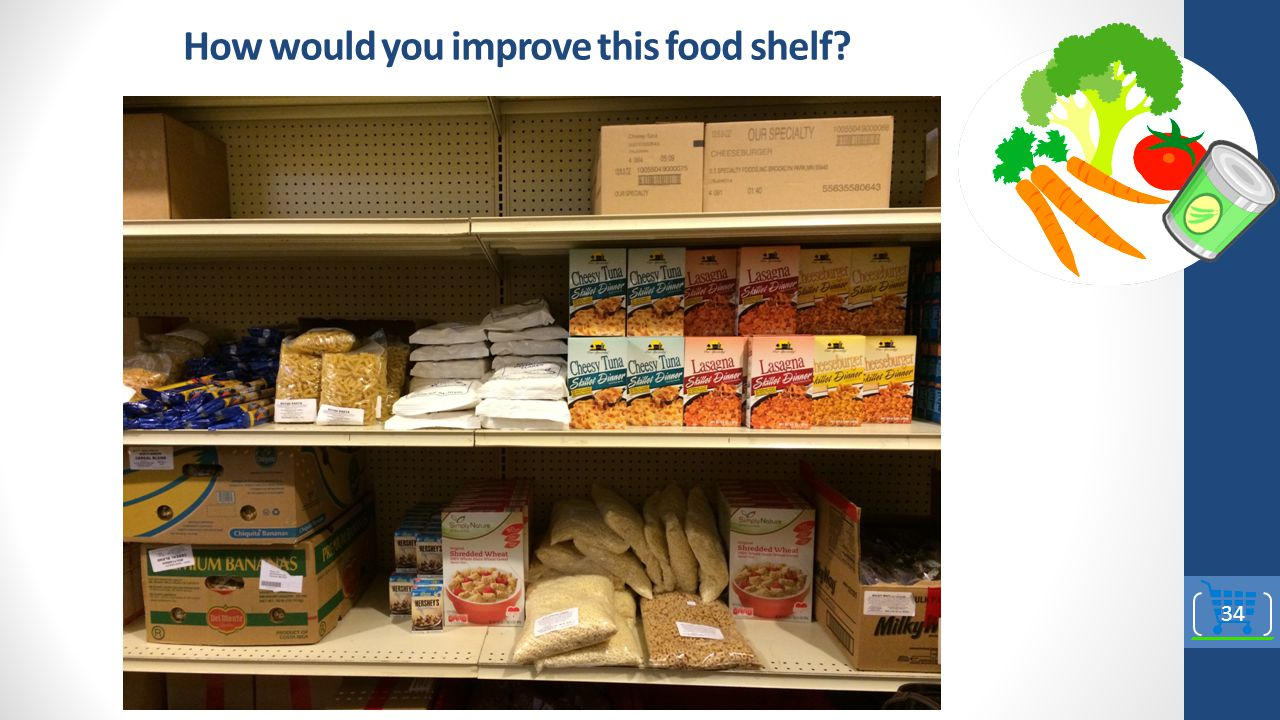 How would you improve this food shelf