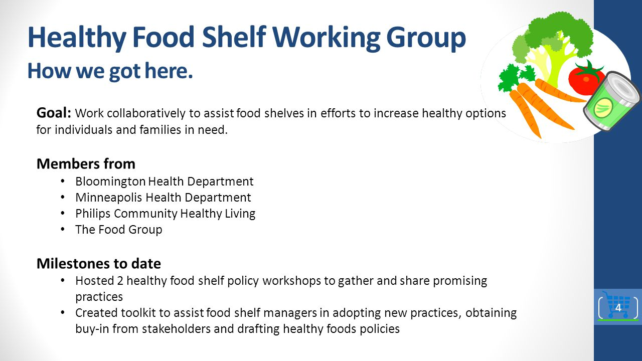 Healthy Food Shelf Working Group