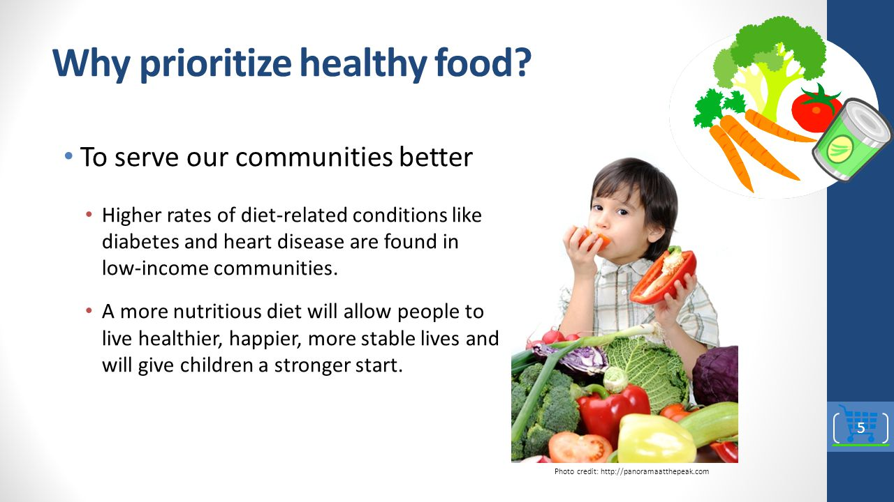Why prioritize healthy food