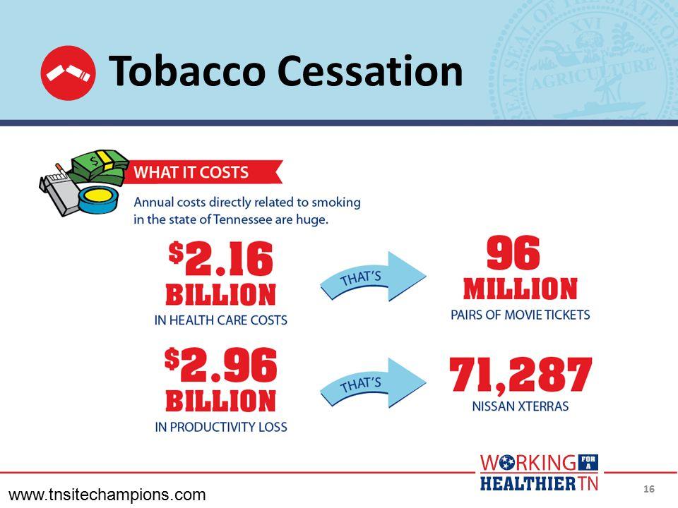 Tobacco Cessation www.tnsitechampions.com