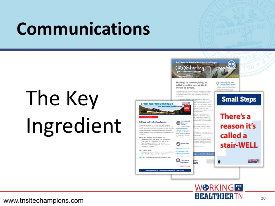 The Key Ingredient Communications www.tnsitechampions.com