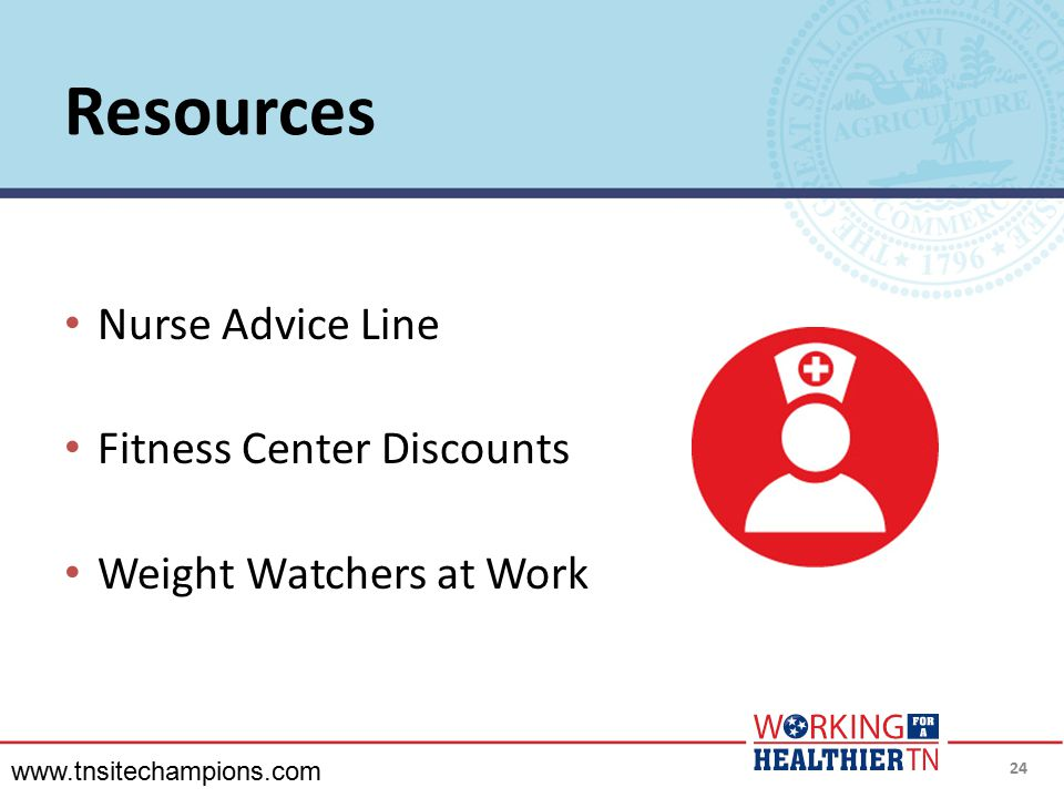 Resources Nurse Advice Line Fitness Center Discounts