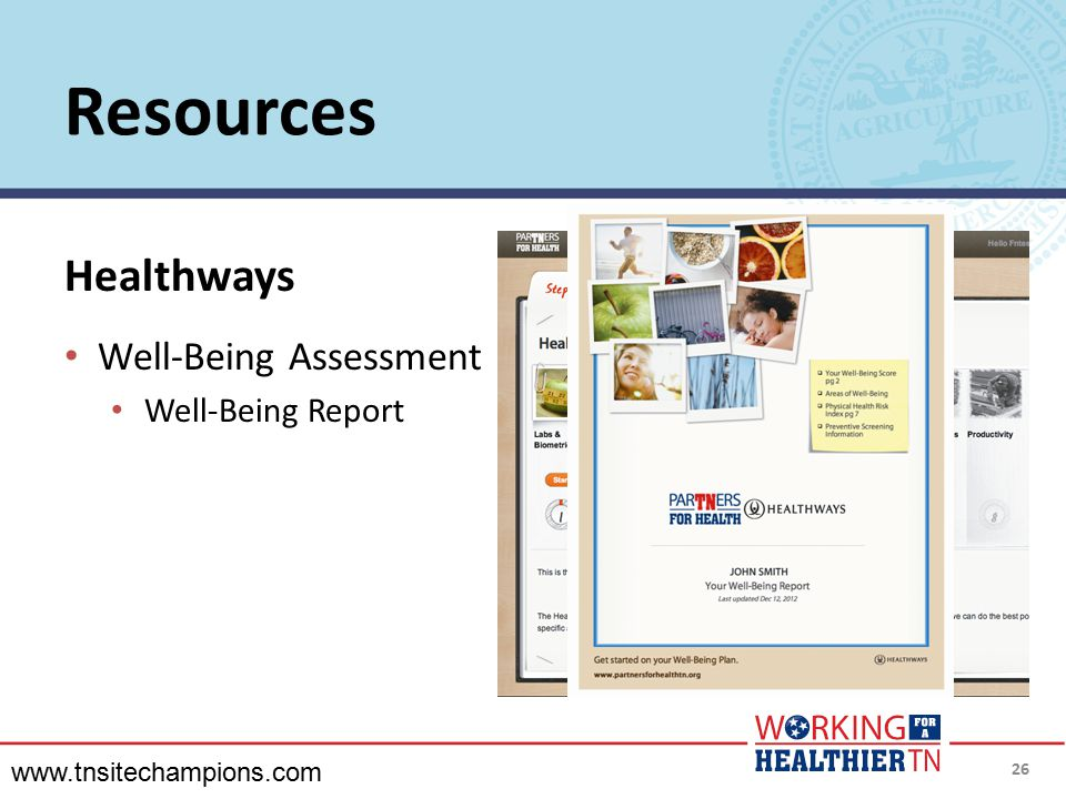Resources Healthways Well-Being Assessment Well-Being Report