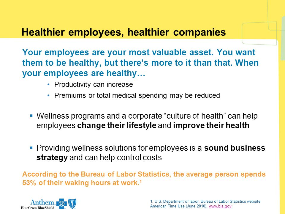 Healthier employees, healthier companies