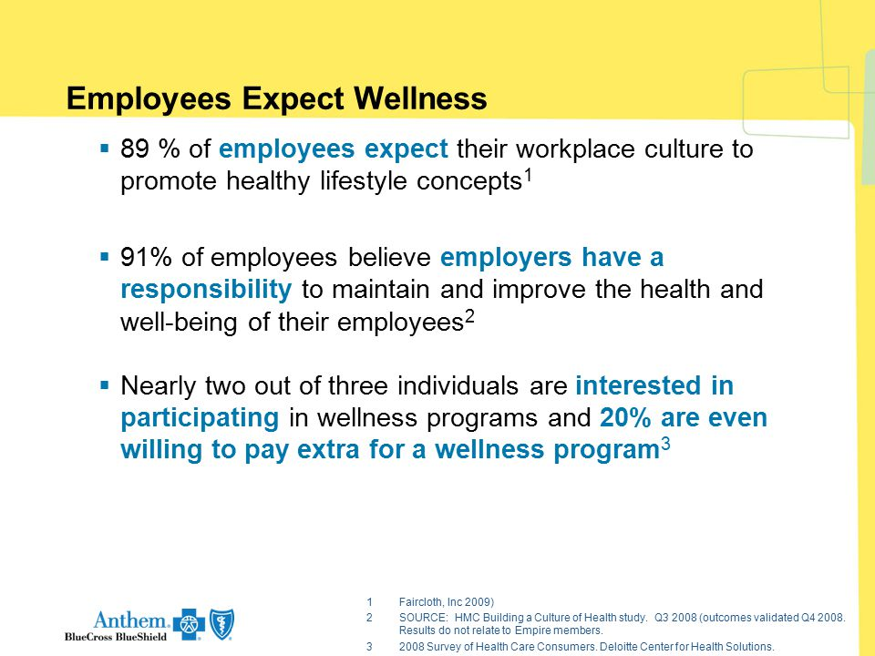 Employees Expect Wellness