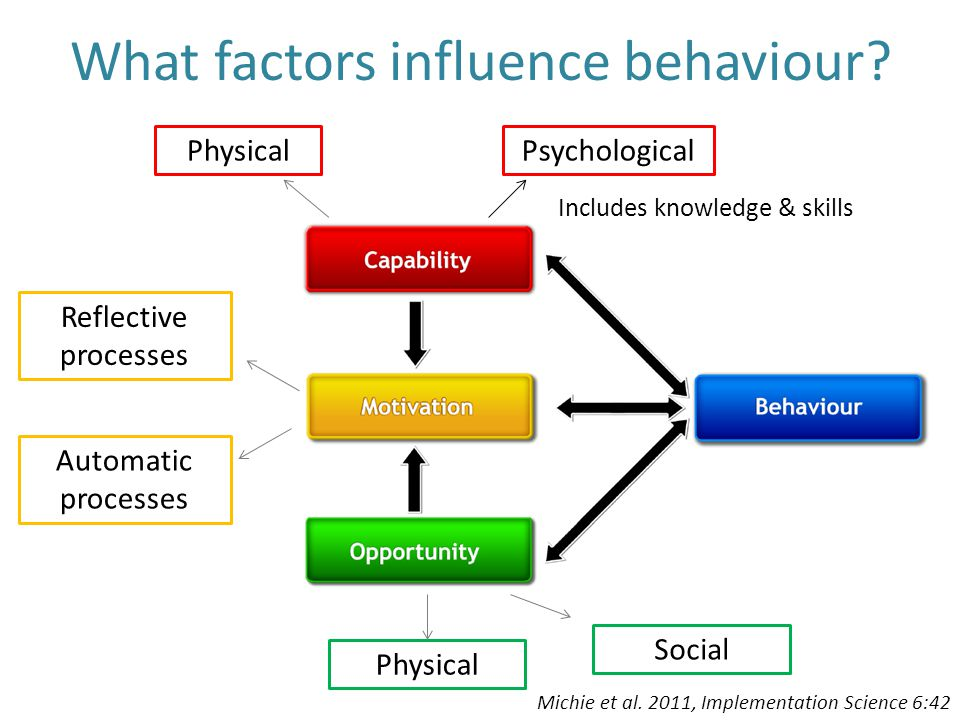 What factors influence behaviour