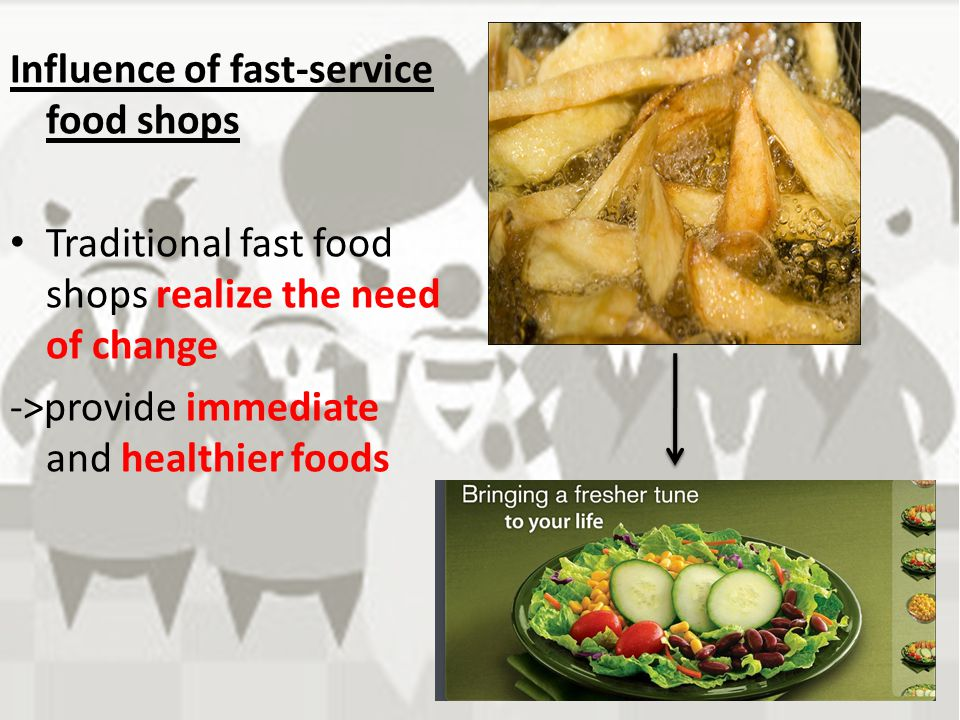 Influence of fast-service food shops