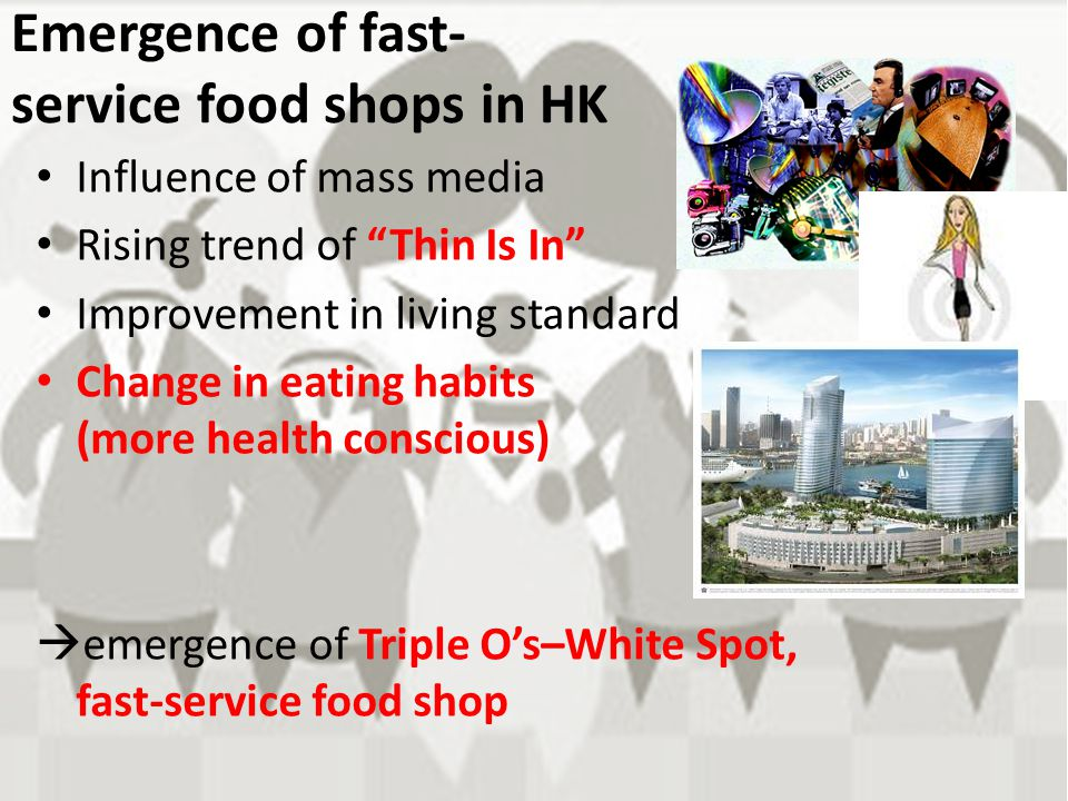 Emergence of fast-service food shops in HK