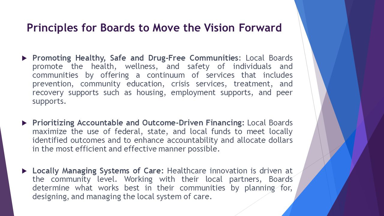 Principles for Boards to Move the Vision Forward