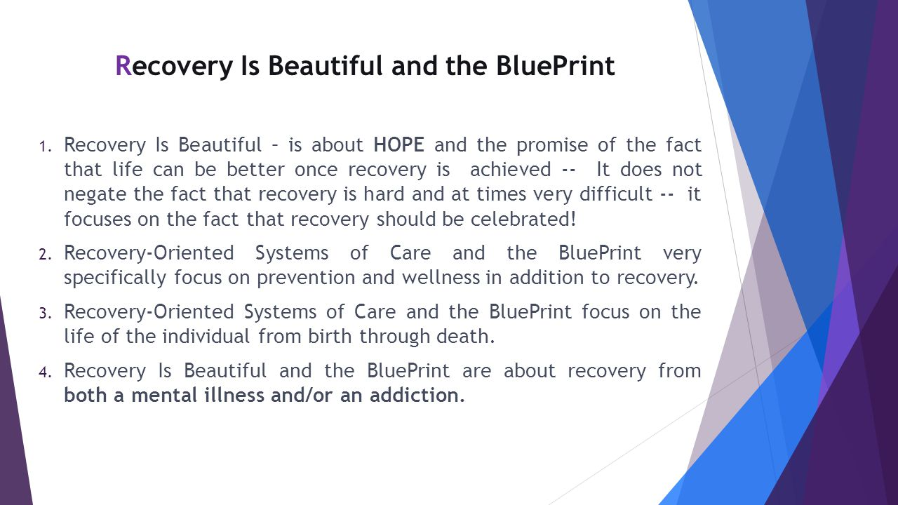 Recovery Is Beautiful and the BluePrint