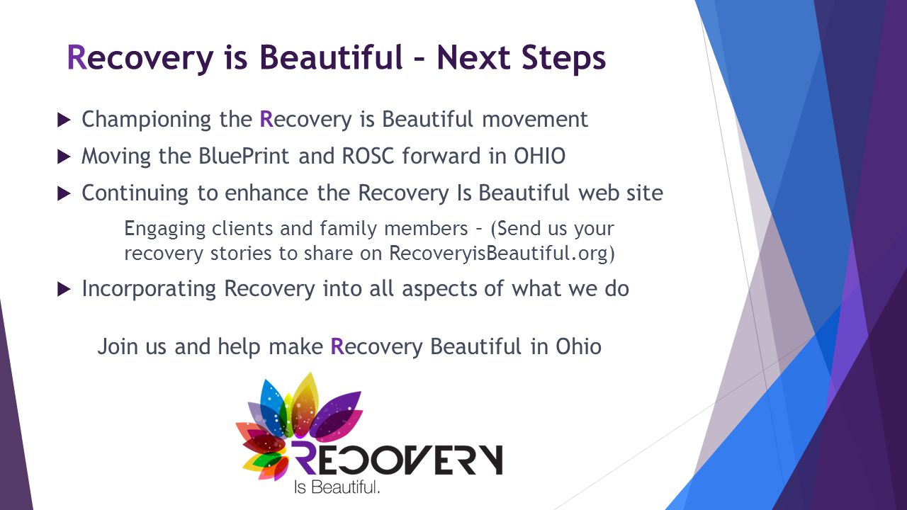 Recovery is Beautiful – Next Steps