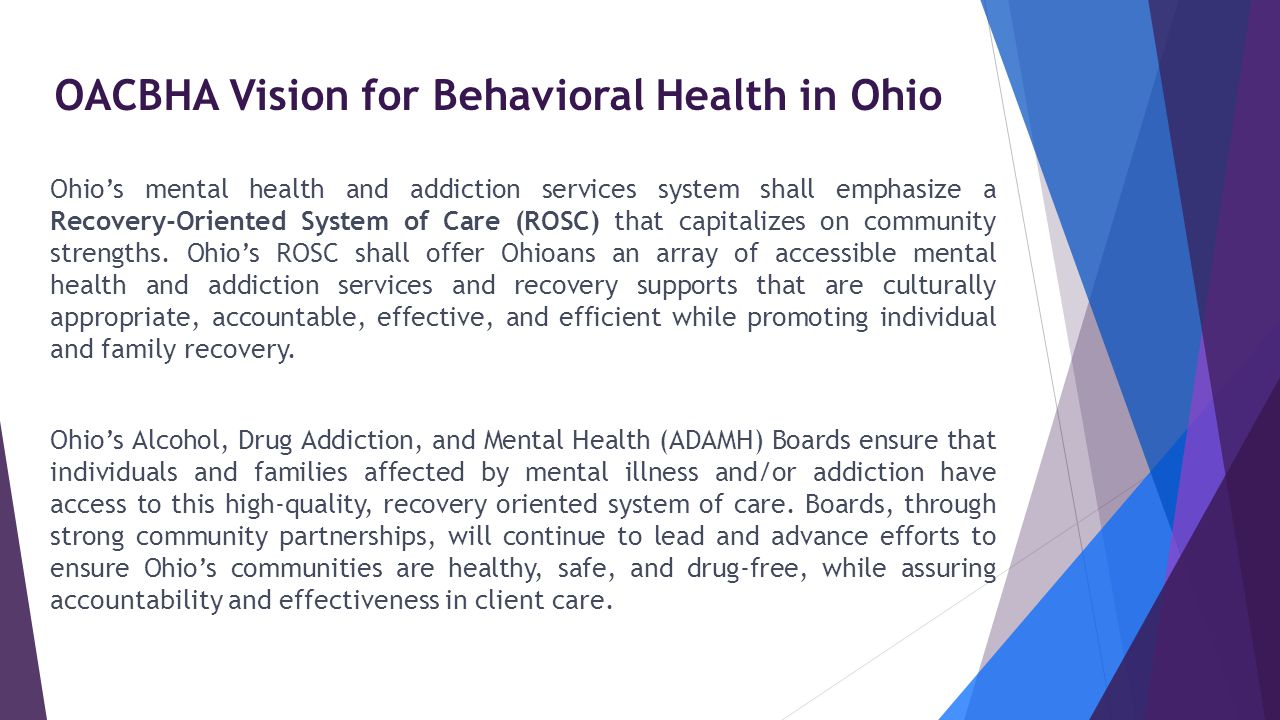 OACBHA Vision for Behavioral Health in Ohio