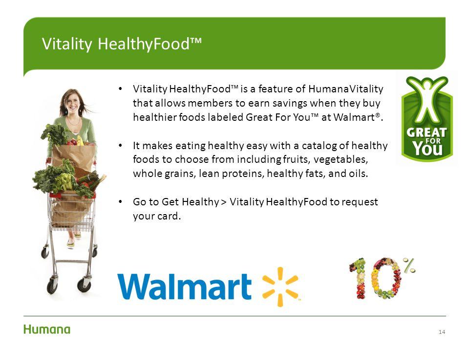 Vitality HealthyFood™