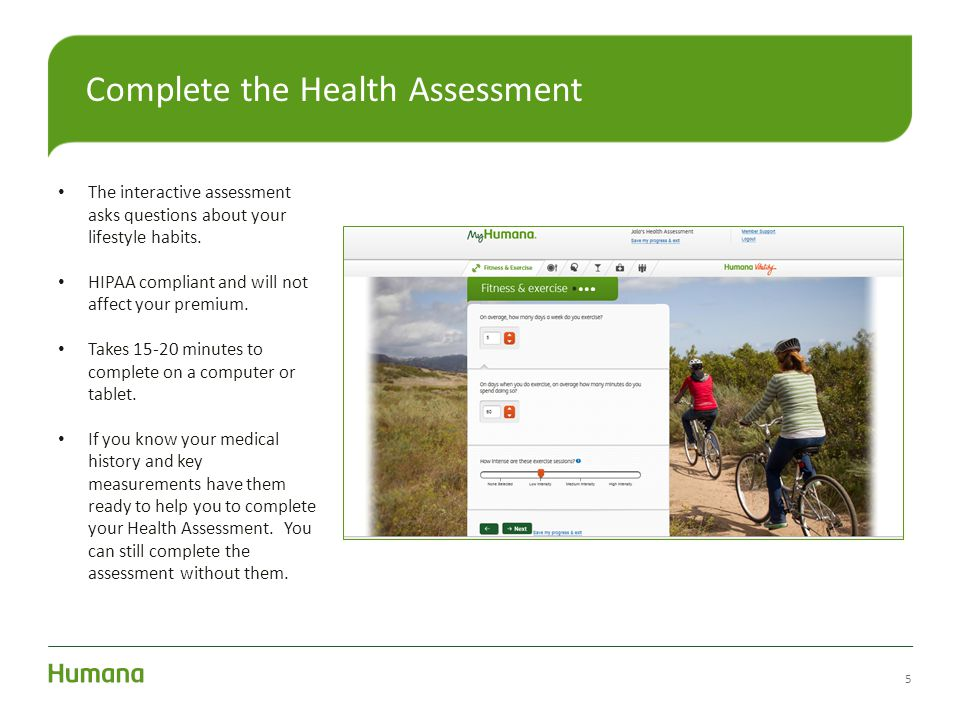 Complete the Health Assessment
