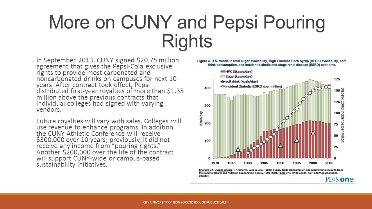More on CUNY and Pepsi Pouring Rights