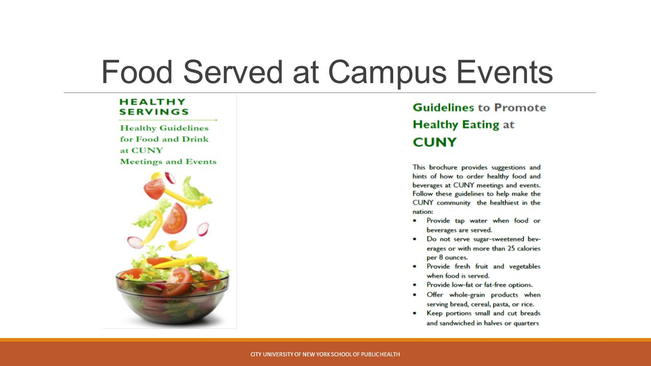Food Served at Campus Events