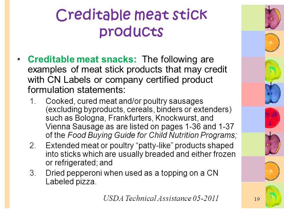 Creditable meat stick products
