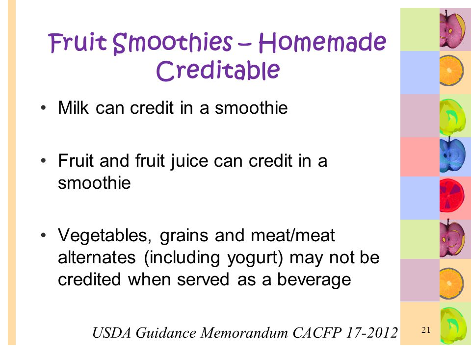 Fruit Smoothies – Homemade Creditable